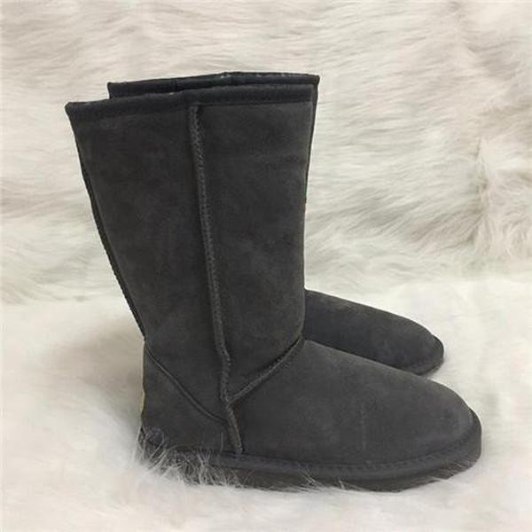 Chaussures de marque Top femmes australien style unisexe Bottes de neige d'hiver en cuir imperméable bottes longues UG Marque IVG