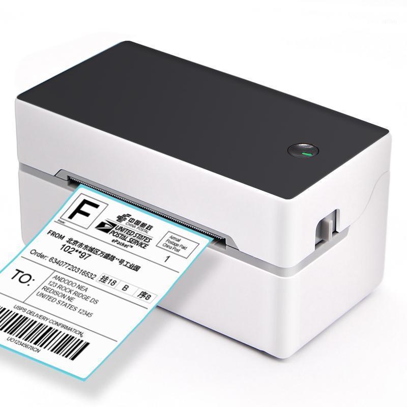 2021 طابعة تسمية حرارية صغيرة لملصقات لاصقة الطباعة مع واجهة Bluetooth USB جودة عالية 40-80 مم ورقة
