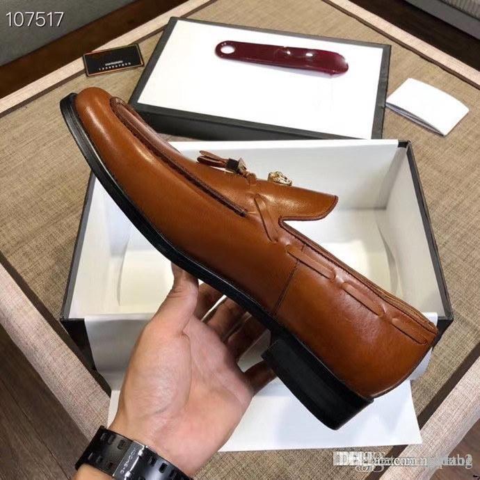 2020 handgemachten Männer-Schuh-spitzen Metallspitze Gold Leder Designer Luxurys Kleid-Schuh-Partei-Hochzeit Lederschuhe Schuhe Hombre!