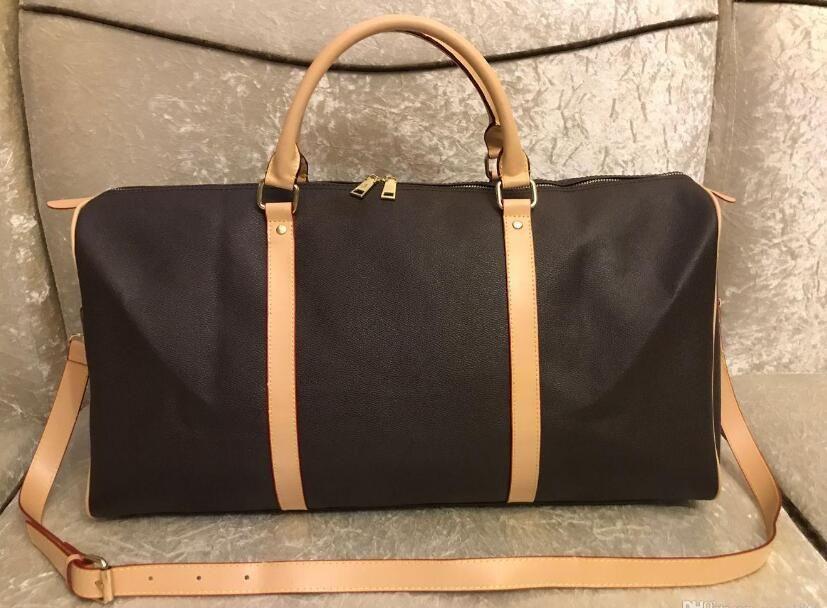 2021 uomini borsone borsa da viaggio borse da viaggio bagaglio a mano bagaglio borsa da viaggio uomini PU borse in pelle di grandi dimensioni borse a croce borsetto 55 cm