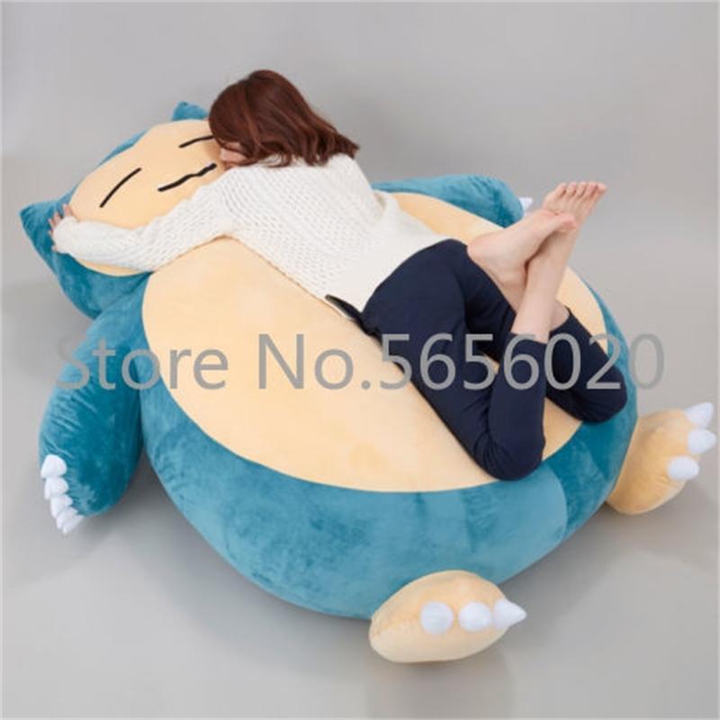 """59"""" Plüsch Anime weiches Stofftier Puppe Snorlax Plüschtier Kissen Bett NUR Hülle mit Reißverschluss für Kind Gif Puppe Kindertag 200928"""