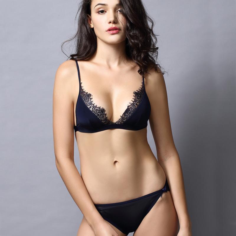 Thyme Europe Girl Sexy Lace Sutiário conjunto Reunir conjuntos de roupas íntimas ajustáveis para mulheres