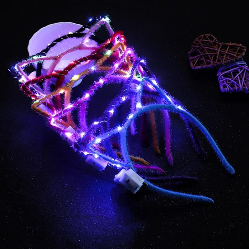 Nettes Katze-Ohr-glühende Stirnband LED-Blitz-Lichter Mode-Hauptband-Kinder Erwachsene Haarreif Haarschmuck Partei Kopfbedeckung Geschenk # 2