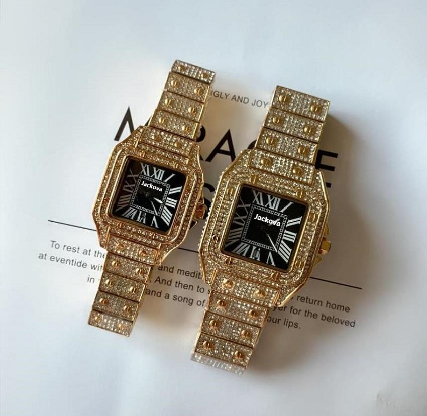 Relogio Masculino 40mm Big Com cadran Mens Montres Hommes Diamant Woman Top Marque Luxe Quartz Montre Hommes Gold Montre-Bracelet Day Horloge