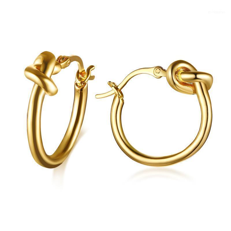 Seasha Fashion Vente chaude boucles d'oreilles goujons bijoux en acier inoxydable métal doré tressé tressé de tendance design femmes fille unisexe fille