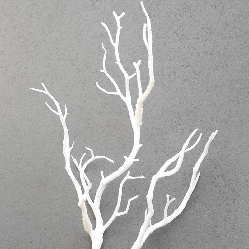 الاصطناعي الجافة فرع شجرة النبات الزفاف وهمية باقة المنزل حديقة الفن diy داخلي الاصطناعي نباتات أوراق الشجر وهمية داخلي Art1