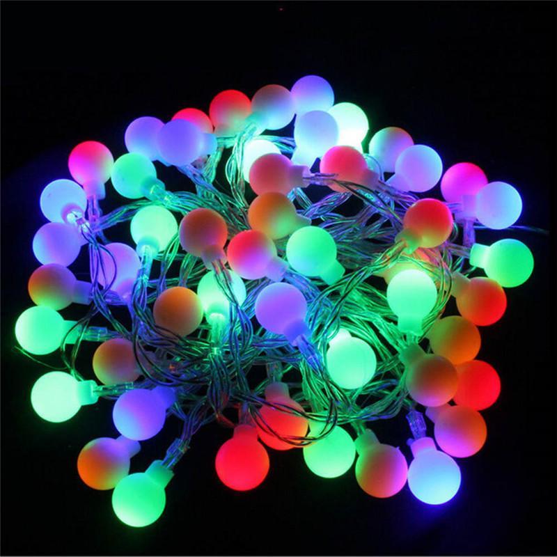 5M 40 LED RGB إكليل سلسلة الجنية الكرة الخفيفة لعيد الميلاد الزفاف مصباح الديكور عطلة عيد في الهواء الطلق الإضاءة 220V