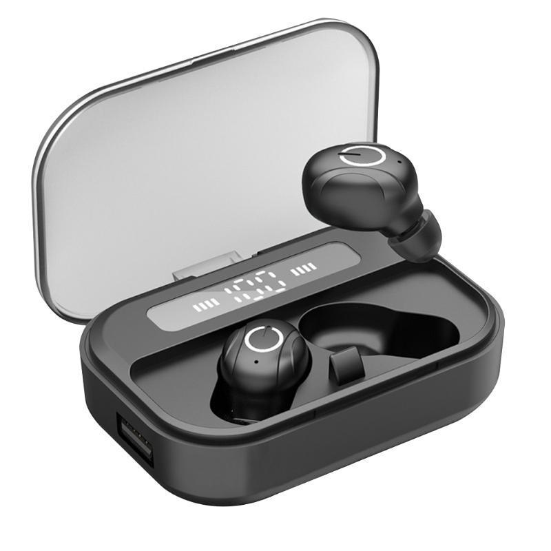 Kulaklıklar Kulaklık Arama Kablosuz Kulaklıklar Ile Şarj Kutusu Ile Su Geçirmez Açık Spor LED Göstergesi Kulak Derin Bas Bluetooth 5.0 STE