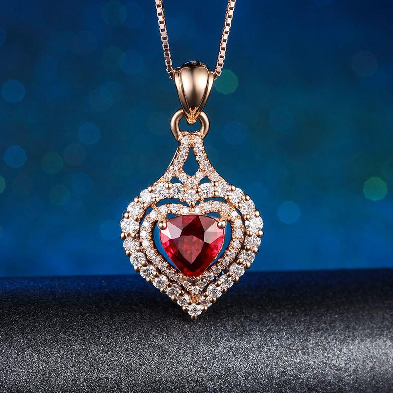 14K or rose Collier biżuteria naturel pur Pendentif femelles fine Pierścionki bijoux 14K or rose Colgante Ley Mujer Pendentif 1027