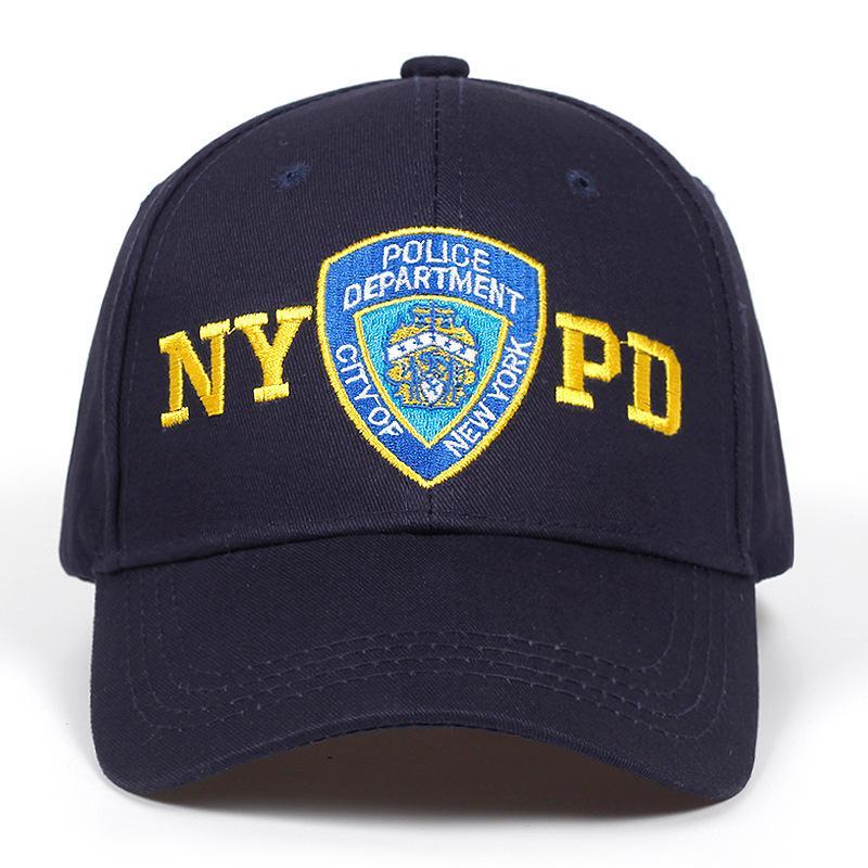 Snapback di marca di alta qualità Nypd Ricamo ricamo Cappellino da baseball Outdoor Sun Caps Regolabile Cotton Cotton Coppia Cappello Hip Hop HatsX1016