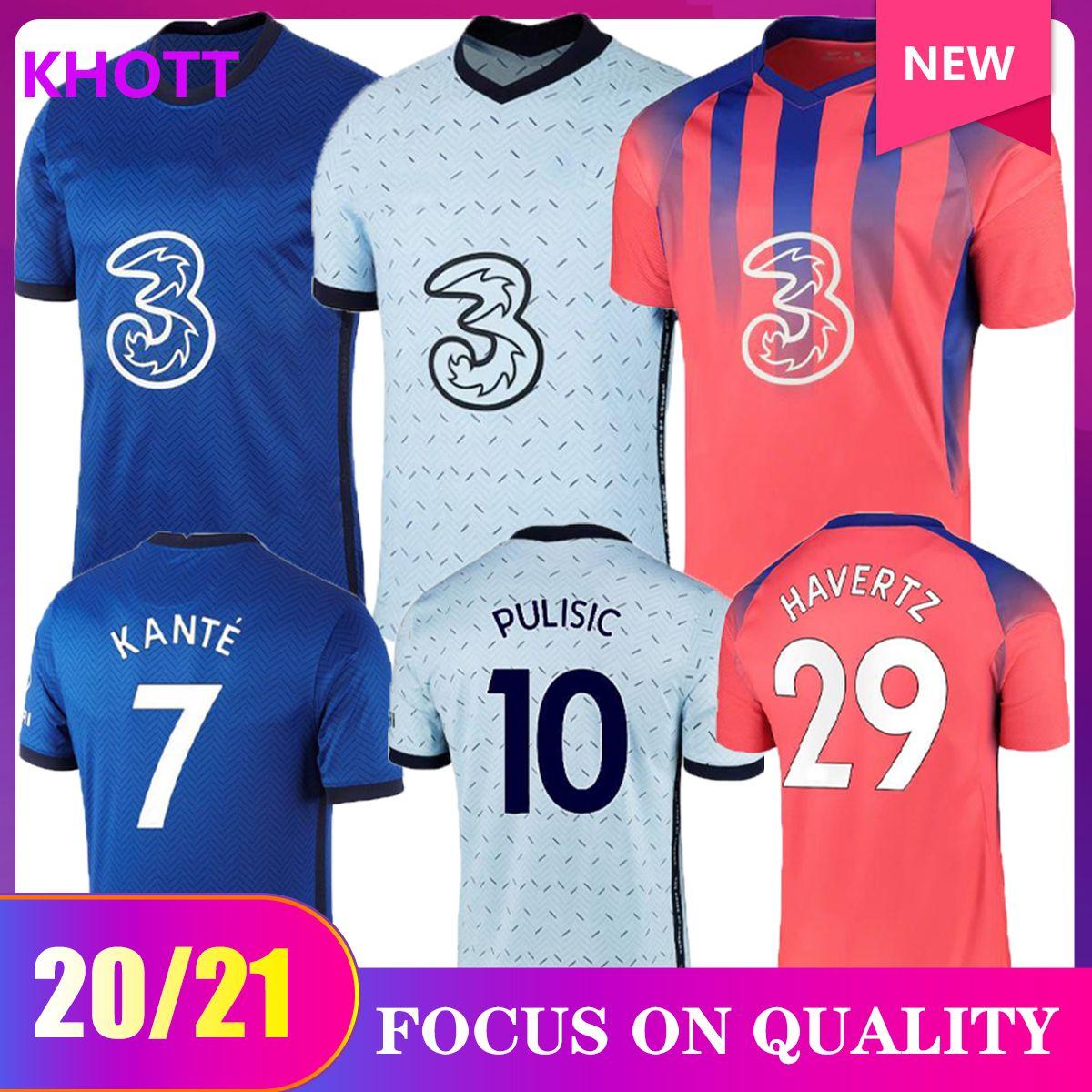 20 21 CFC Pulise Pulisic Jerseys 2020 2021 Abraham Mount Willian Lampard Camicia da calcio Set Hudson Odoi Kante Uniformi uomo