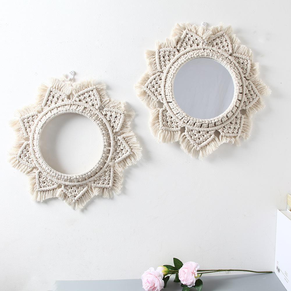 Ins nórdica espejo de Bohemia vestirse espejo decorativo colgante dormitorio de cabecera B B porche del hotel decoración de la pared