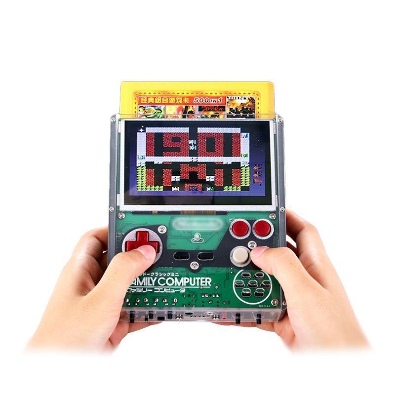 Coolbaby X7 4.3 дюйма 8 бит DIY ретро ФК портативная игровая приставка с 500 в 1 играх Видеоигры игроки поддерживают 4 игрока