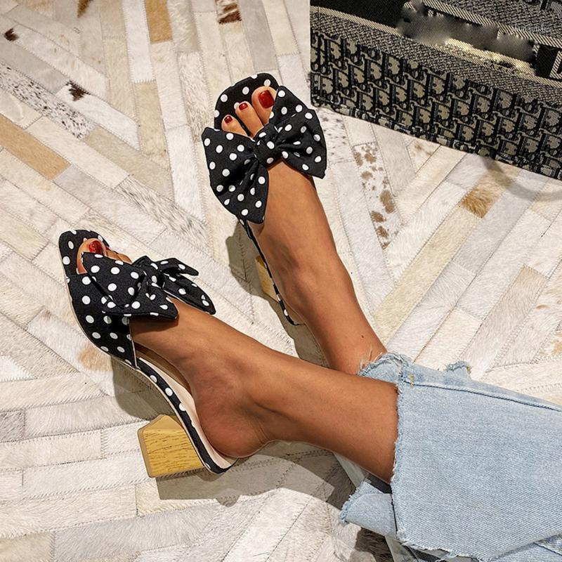 Yaz Kadın Terlik Moda Ilmek Dalga Kare Topuk Peep Toe Ayakkabı Açık Rahat Plaj Ayakkabı Zapatos De Mujer # 07291