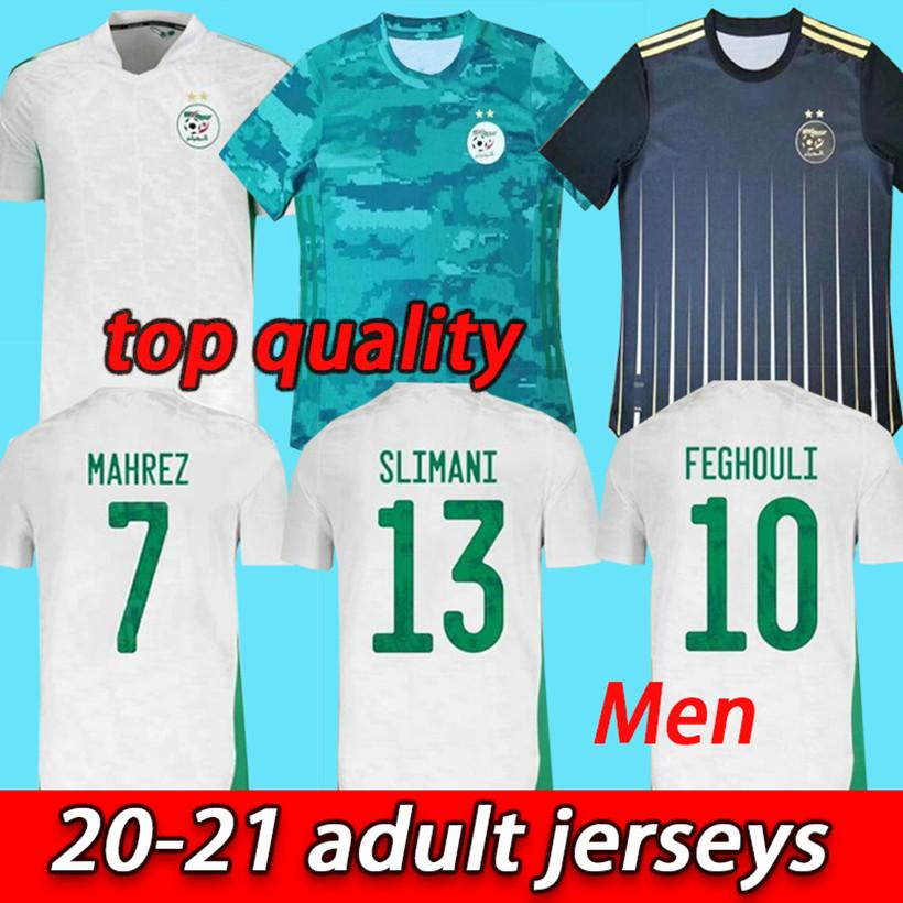 2020 2021 Алжир Махрес Две звезды Футбольные изделия 20 21 Atal Slimani Brahimi Home Bennacer Футбольные футболки Maillot de Foot