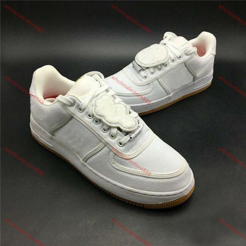 Nike Air Force 1 2020 All'ingrosso Travis Scott 1 One Sail Gum Scuri Atlético Zapatos Nuovo Modo Cactus Jack Sport Sneakers Casual Shoes
