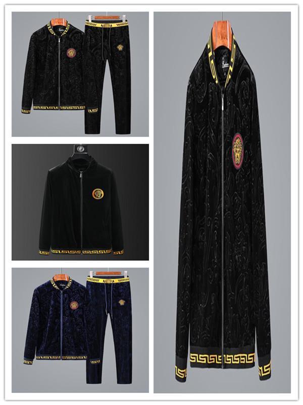 Outono e inverno Mens Hoodies Sweat Suit Roupa do tipo Sets sportswear de luxo europeu e homens americanos Jogging tamanho Suits m-4xl