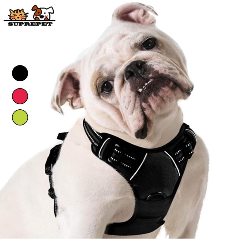 SUPREPET mascotas chaleco ajustable de nylon para Gran Medio Sin Tire perro de perrito del arnés 1020