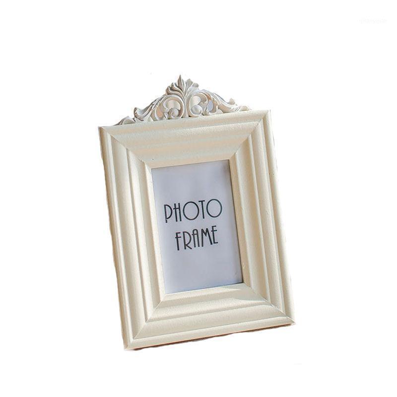 Cadre photo en bois rétro de style européen 3 pouces 5 pouces 6 7 Cadre photo blanc de haute qualité Photo de 1 $