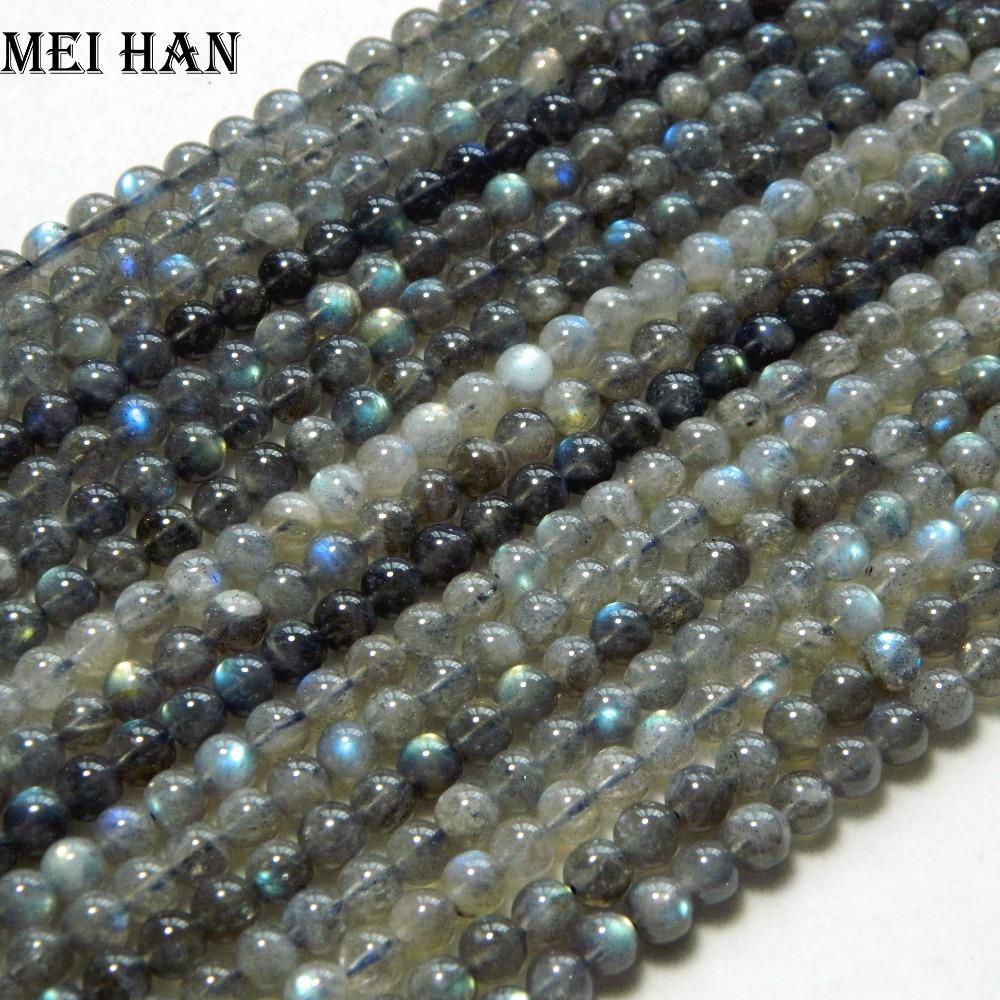 Großhandel (2 Stränge / set) natürliche Klasse A + labradorite 5.5-6mm runde lose glänzenden Perlen für Schmuck machen Design Q1106 glätten
