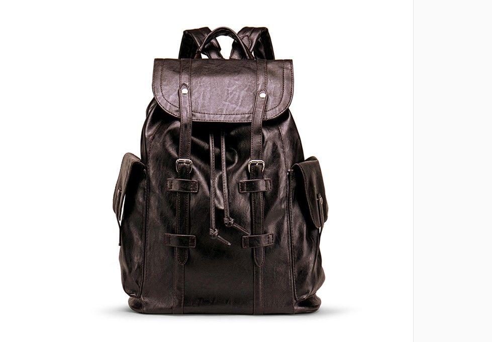 Мужская сумка высокого качества мужская кожа кожа Christopher PM рюкзак настоящая кожа Purselarge-емкость серый / черный плед мужской рюкзак