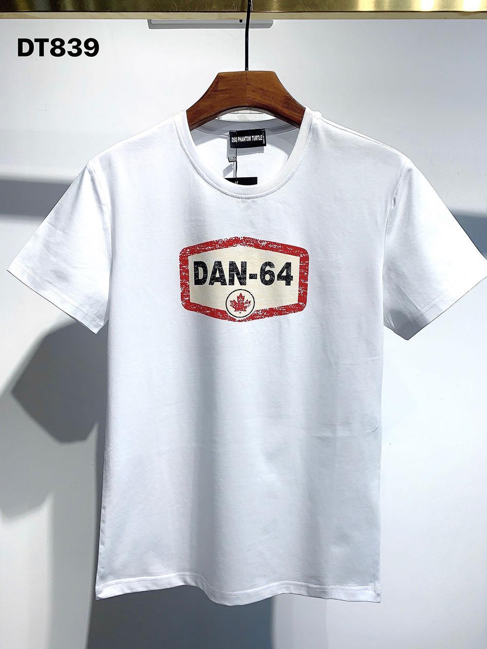 DSQ PHANTOM TURTLE 2021SS New Mens Designer T shirt Paris fashion Tshirts Summer DSQ Pattern T-shirt Male Top Quality 100% Cotton Top 1096