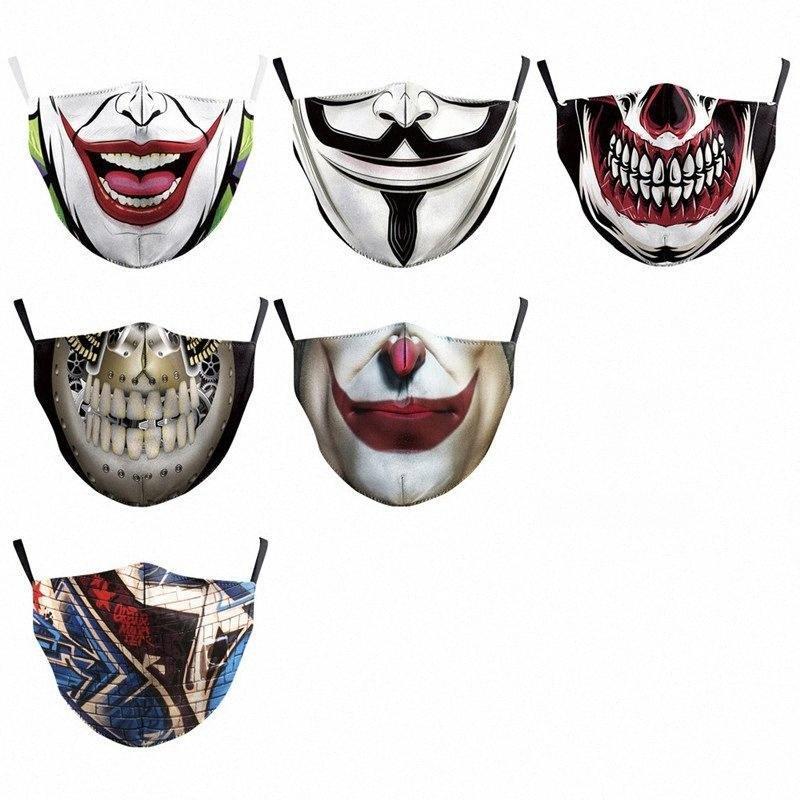 8 Waschbar 500pcs Farbe gedruckt Staubmaske Masken Tarnung Baumwolle Maske Exportierbare Personalisierte Designer wiederverwendbaren PM2.5 T1I1955 Znx0 # 8 Knbw