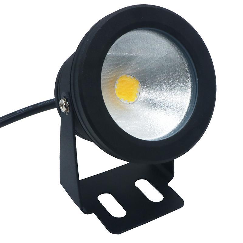 Fonte Landscape alta Waterproof IP68 12V 10W exterior LED submersível Piscina Lamp luzes subaquáticas Shell Preto