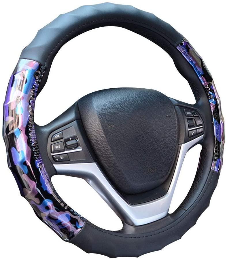 Charmchic Camo фиолетовая и рулевое управление синего автомобиля крышка колеса для женщин, универсальный 15-дюймовый, удобные, Heavy Duty,