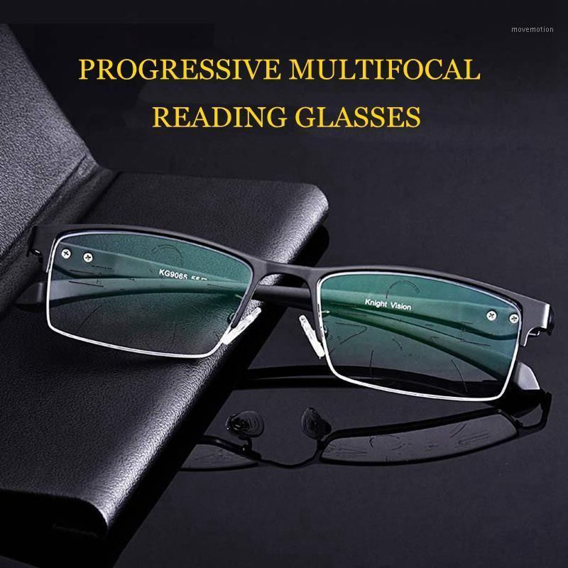Inteligente Presbyópico Near1 Anti Multifocal Vidros Ray Lente Progressiva Leitura Blu Homens Far TR90 Velho Veja Óculos Ultralight NFJS