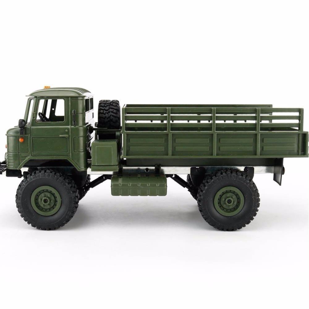 WPL B-24 Пульт дистанционного управления Военный грузовик DIY Off-Road 4WD RC CAR 4 колес Beggy Drive Allistrains Gaz-66 автомобиль для подарка на день рождения 201126