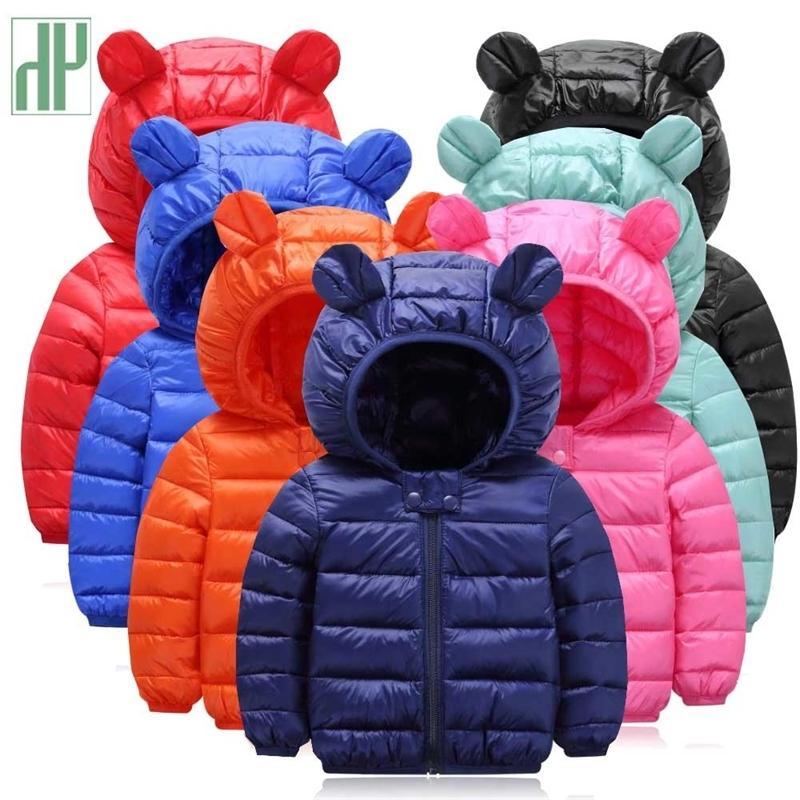 Детская куртка осень зима теплые малыши куртки для девочек мальчики пальто детские куртки детей с капюшоном верхняя одежда ветровка ветровка Y200831