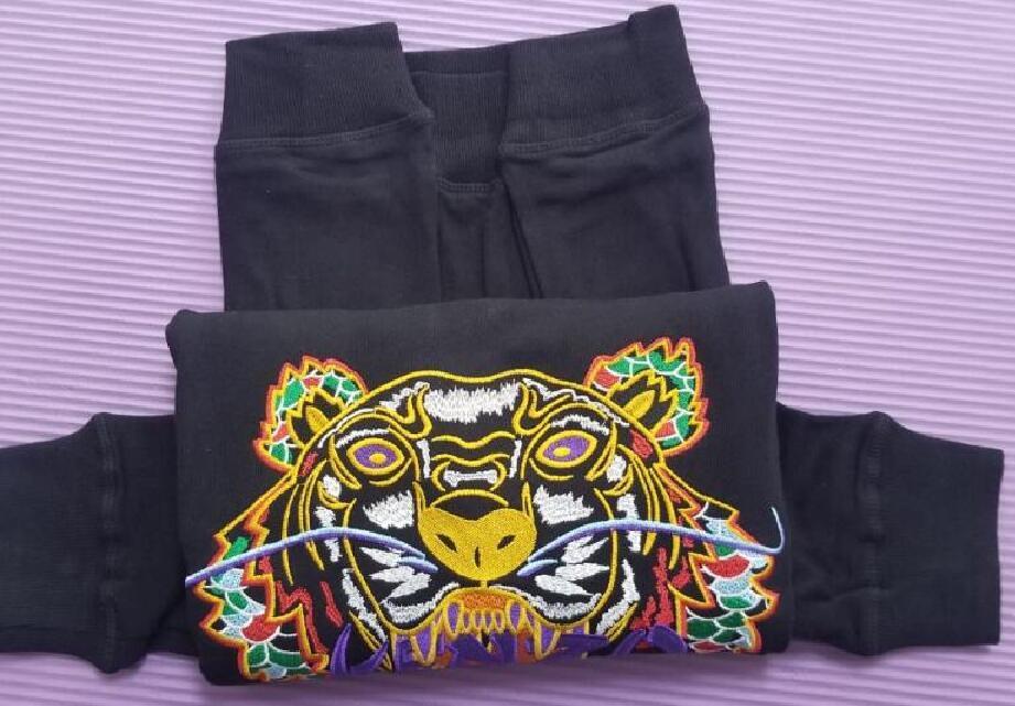 Freies verschiffen neue männer und frauen lässig pullover langärmeliger pullover baumwolle klassische stickerei runde hals pullover modische jacke