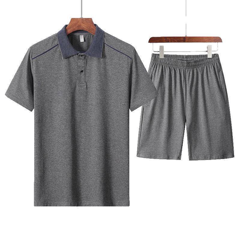 Hombres de verano Set Sportswear Fashion 2020 Hombres Greyt Shirts + Shorts Masculino Casual Traje Traje Hombre Hip Hop Sets PLOS TAMAÑO 5XL T200709
