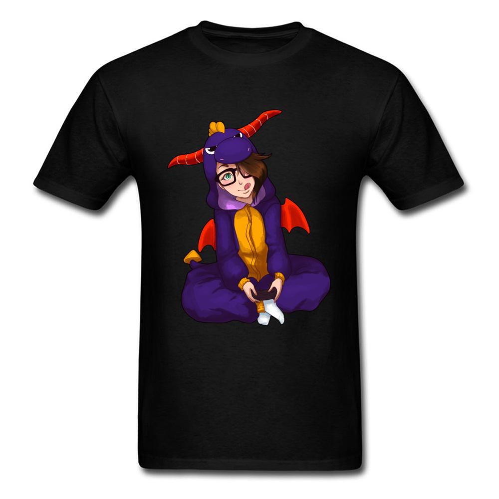 Videospiel-T-Shirts für Männer Individueller oben T-Shirts Frau-T-Shirt Dinosaurier-Kostüm Kawaii Tees Mädchen-Kleidung Schwarz Sport T-Shirt Hoodie