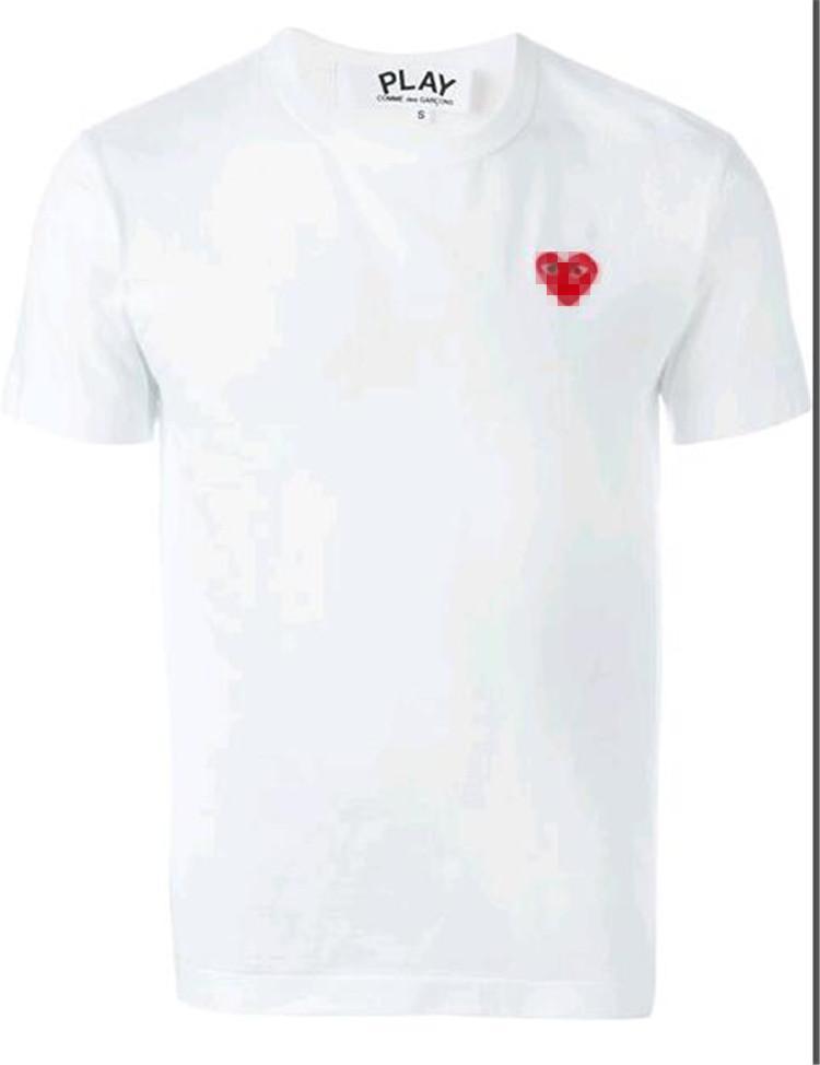 2019 COM Качество Мужчины Женщины Джери Commes де GARCONS общая ручка футболка белый размер M быстрое решение F S