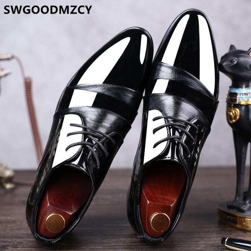 Kleid Schuhe Hochzeit Männer Formale Coiffeur Elegante Für Luxus Designer Partei Italienische Marke Große Größe 48 Buty Meskie