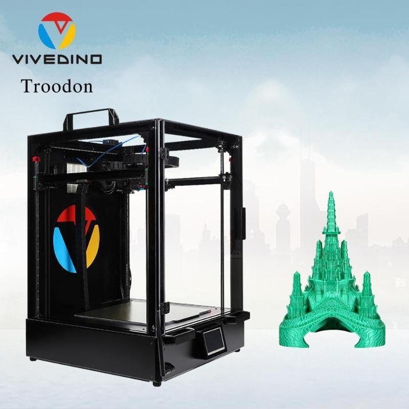 프린터 Vivedino Troodon Core-XY 완전 밀폐 된 금속 프레임 하이 엔드 3D 프린터 큰 볼륨 터치 스크린