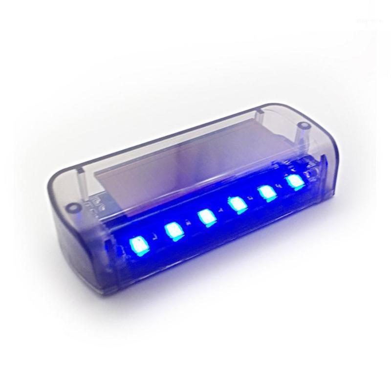 6 LED ys-62 자동차 태양 전원 시뮬레이션 알람 경고 스트로브 빛 도난 방지 깜박이 보안 Light1