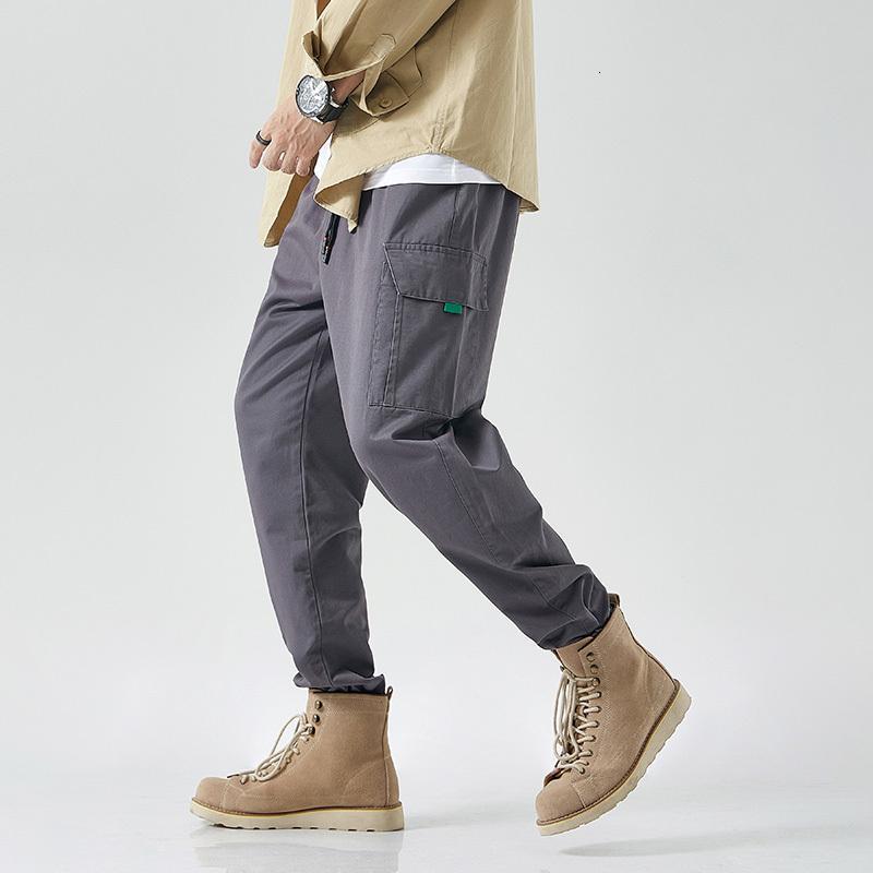 Hip Hop Streetwear Sport 2020 Printemps Automne Harem Roche Cargo Pantalon noir gris hommes Fashions Joggers Pantalons Skateboard