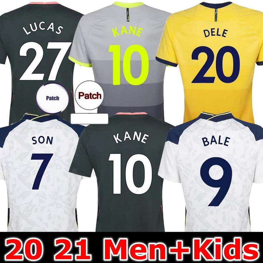 Tottenham 20 21 Bale Kane Son Bergwijn Ndombele Soccer Jerseys 2020 2021 Morgan Dele Jersey Football Kit Shirt Lloris Spurs Fourth 4T Jersey