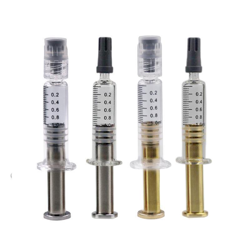 2021 Tek Kullanımlık 1 ML Altın Gümüş Piston Şırınga Filtresi TH205 M6T Kartuş Pompalama Yağ Koleksiyonu Clear Enjektör Kutusu Ambalaj