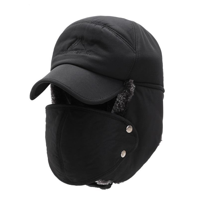 À prova de vento chapéu morno 1PCS Homens Mulheres Bomber Faux Fur Ear Flap Hat Cap Inverno Ski Trooper Trapper cor sólida Cotton Feng Cap Lei