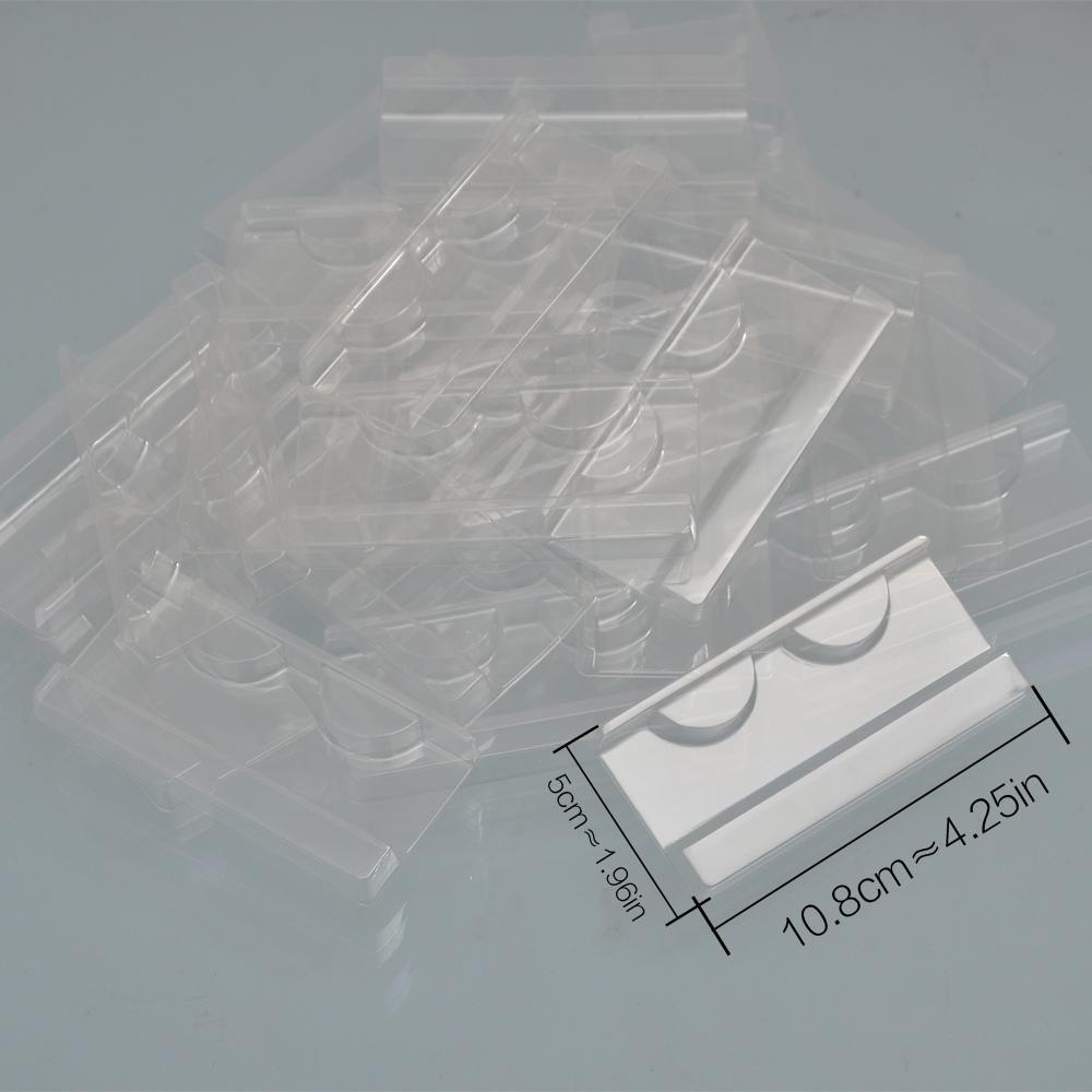 100PCS / 속눈썹 포장 상자 도매 플라스틱 투명 속눈썹 트레이 팩 가짜 속눈썹 패키지 CILS 3D 밍크 속눈썹 트레이 홀더 삽입