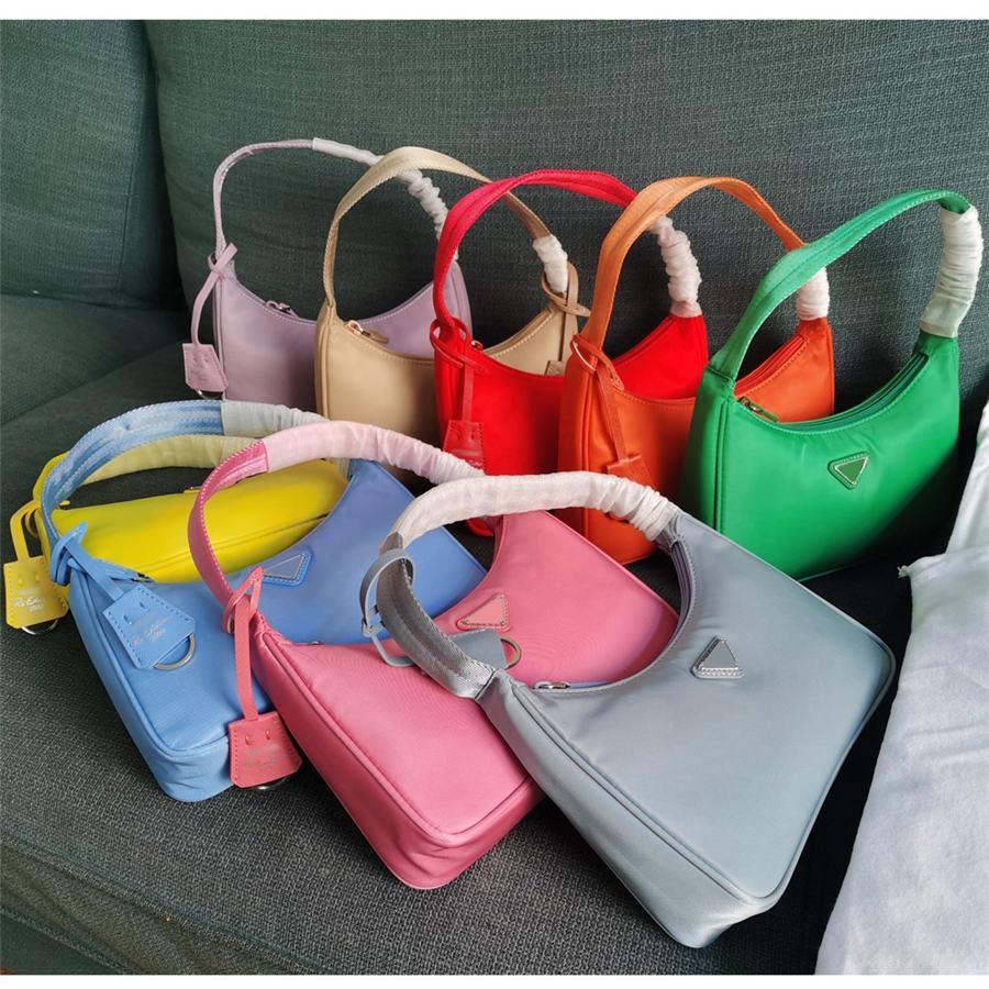 Ombro do Top qualidade Novo Mulheres Re-edição de lona 2000 Ombro de couro Nylon Bag Mulheres Bolsa Bandoleira Sacos Handbag