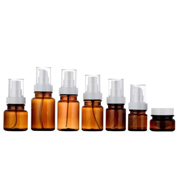30 60 80 100 120 180ML Empty Lotion Bottles, Refillable Plastic Pump Fine Mist Bottle Makeup Cosmetic Moisturing Cream Container With Cap