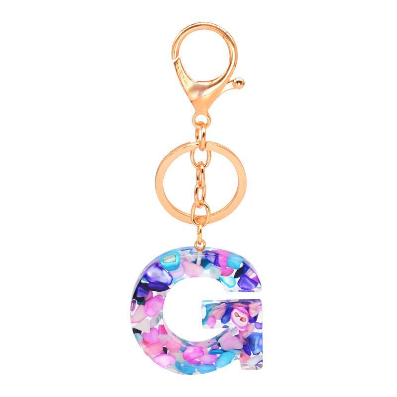 26 Lettere Carino Key Chain colorata Charms cordicella Keys Holder Buckle Portachiavi Portafoglio auto Accessori di moda KKF2080