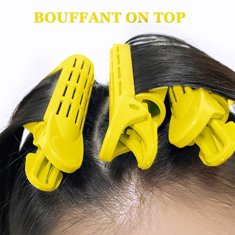1 / 2pcs Raízes Fluffy Encrespadores Clipe Cabelo Curler Torça Tools Hair Styling Ferramenta de Bricolage Mulheres menina DIY cabelo de ondulação