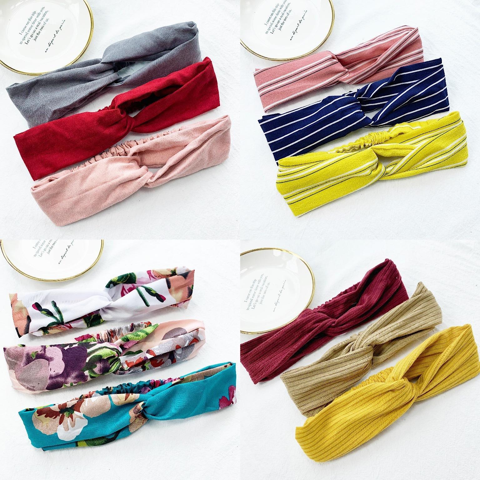 Estilos múltiples de la venta caliente simple moda salvaje señora tela nudo del arco de la venda de corbata de la cuerda de accesorios para el cabello