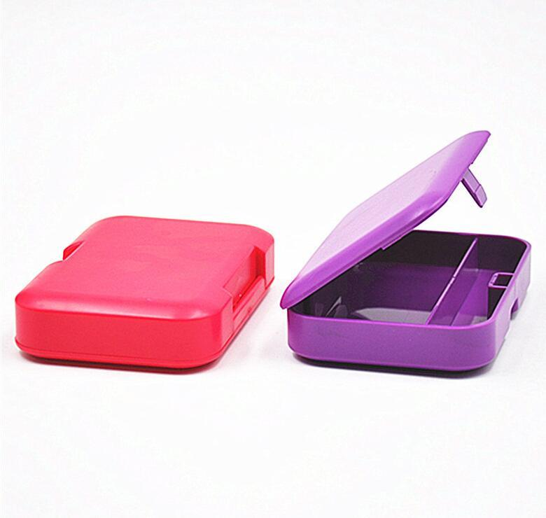 Plastic Rectangle Tobacco Box Cigarette Storage Case for Rolling Paper Smoking Pipe Holder Nice Colors Avaiable DDF4199